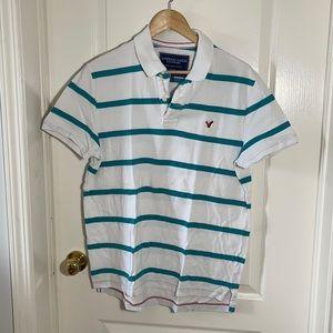 4/$20 🔥 American Eagle Striped Polo Shirt